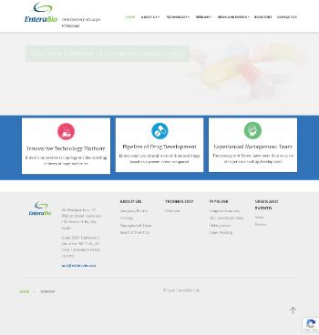 Entera Bio Ltd. Website Screenshot