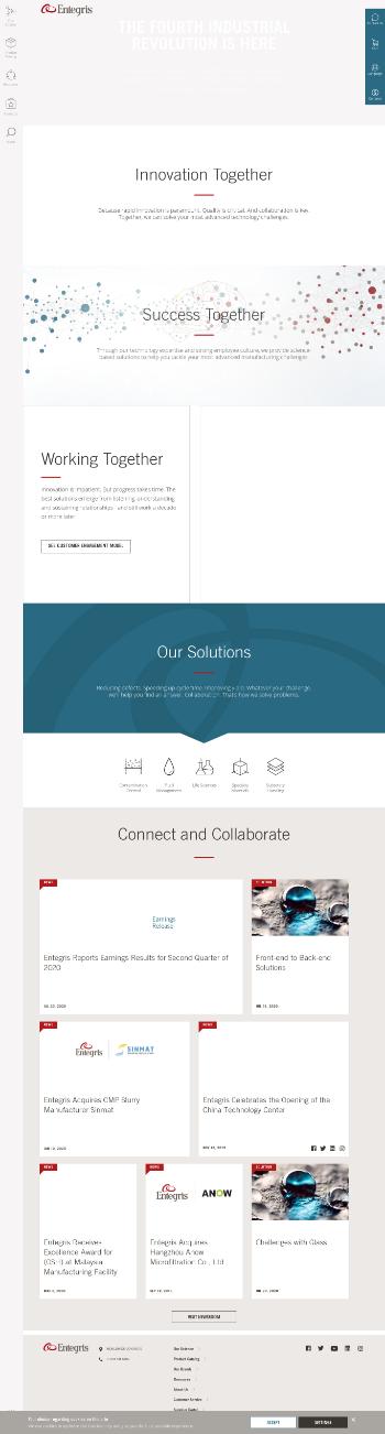 Entegris, Inc. Website Screenshot