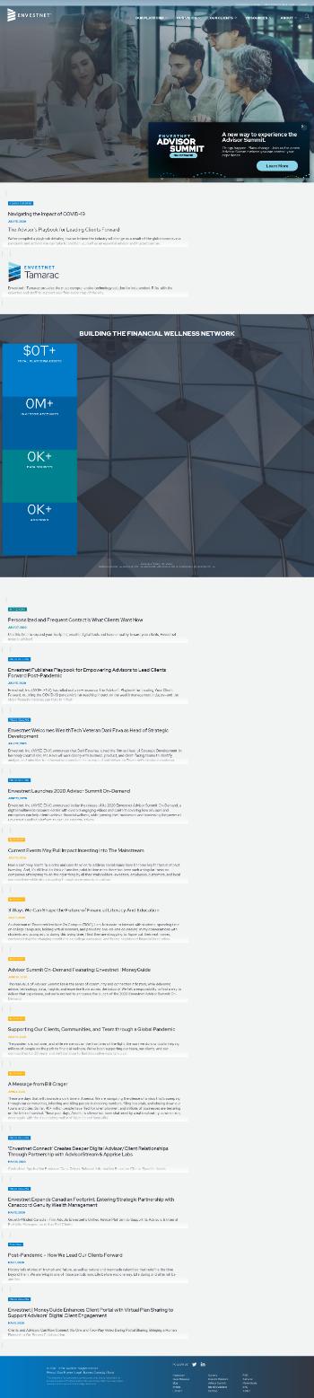 Envestnet, Inc. Website Screenshot