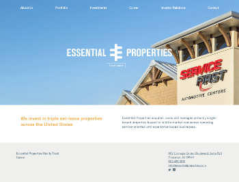 Essential Properties Realty Trust, Inc. Website Screenshot