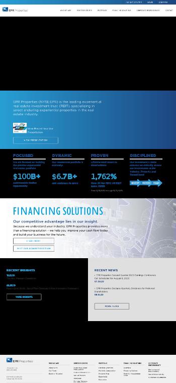 EPR Properties Website Screenshot