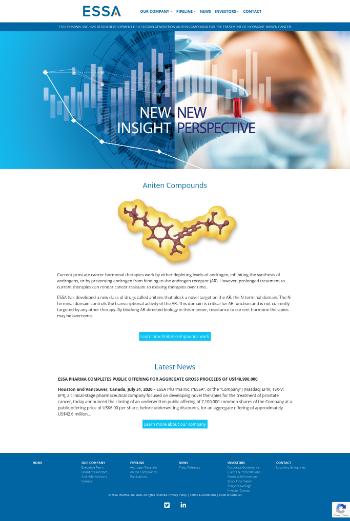 ESSA Pharma Inc. Website Screenshot