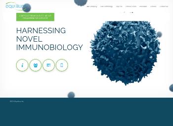Equillium, Inc. Website Screenshot