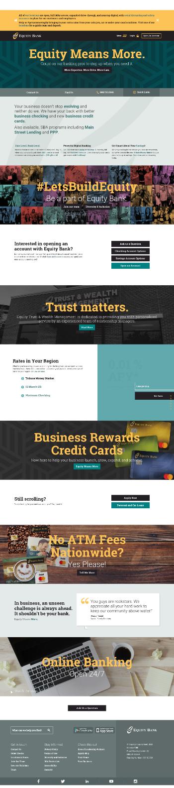 Equity Bancshares, Inc. Website Screenshot