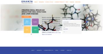 Enanta Pharmaceuticals, Inc. Website Screenshot
