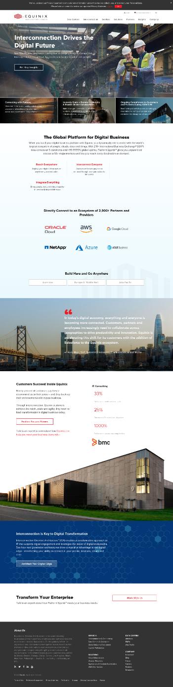 Equinix, Inc. (REIT) Website Screenshot