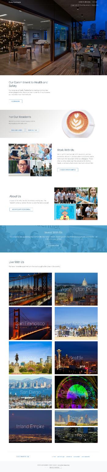 Equity Residential Website Screenshot