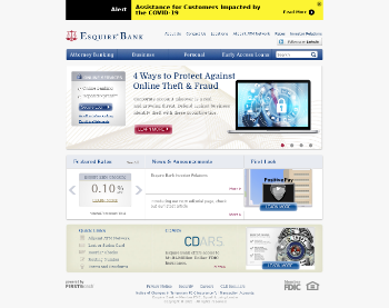 Esquire Financial Holdings, Inc. Website Screenshot