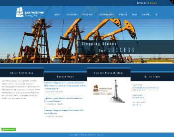 Earthstone Energy, Inc. Website Screenshot