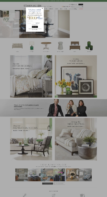 Ethan Allen Interiors Inc. Website Screenshot
