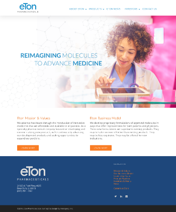 Eton Pharmaceuticals, Inc. Website Screenshot