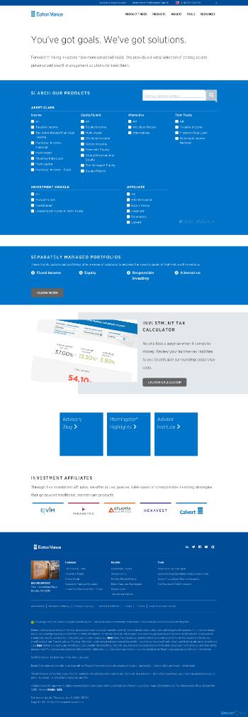 Eaton Vance Municipal Income 2028 Term Trust Website Screenshot
