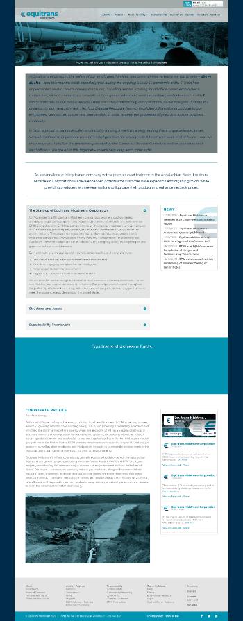 Equitrans Midstream Corporation Website Screenshot