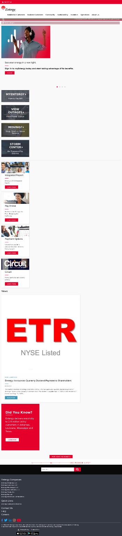Entergy Corporation Website Screenshot