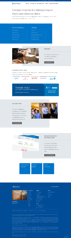 Eaton Vance Corp. Website Screenshot