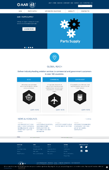 AAR Corp. Website Screenshot