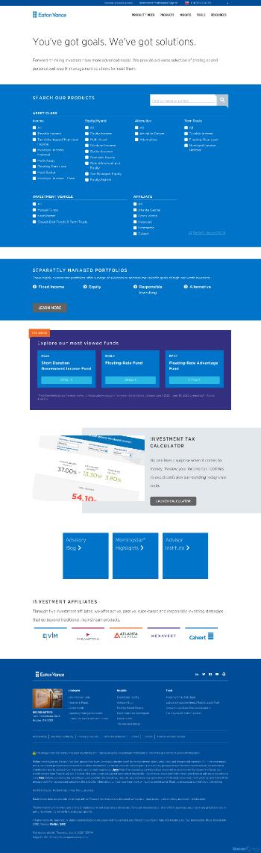 Eaton Vance Short Duration Diversified Income Fund Website Screenshot