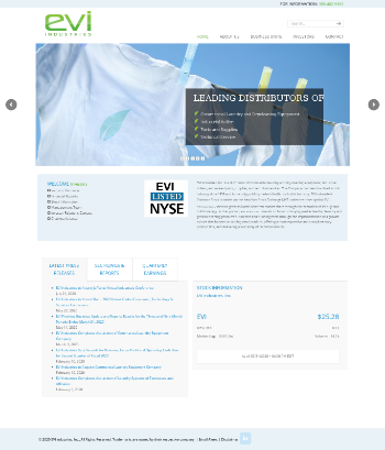 EVI Industries, Inc. Website Screenshot