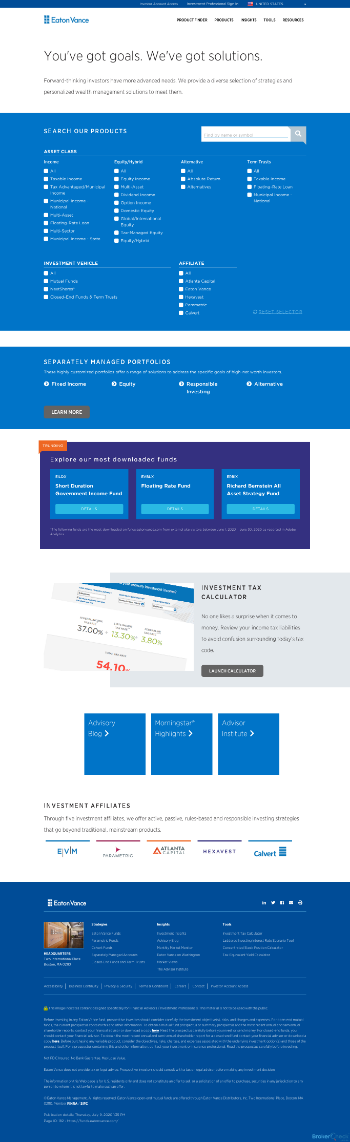 Eaton Vance Senior Income Trust Website Screenshot