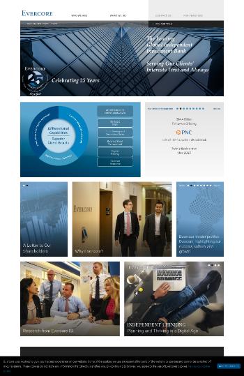 Evercore Inc. Website Screenshot