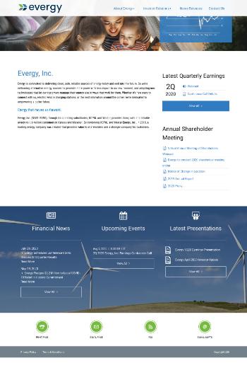 Evergy, Inc. Website Screenshot