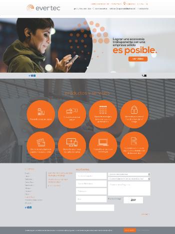 EVERTEC, Inc. Website Screenshot