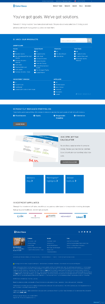 Eaton Vance New York Municipal Income Trust Website Screenshot