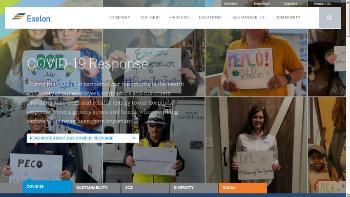 Exelon Corporation Website Screenshot