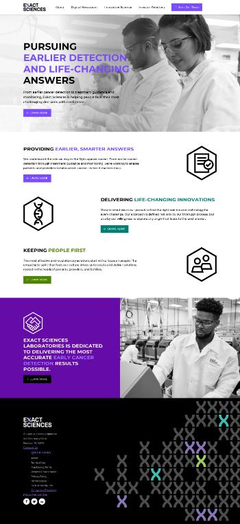 Exact Sciences Corporation Website Screenshot