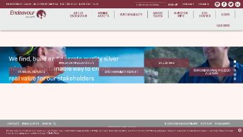 Endeavour Silver Corp. Website Screenshot
