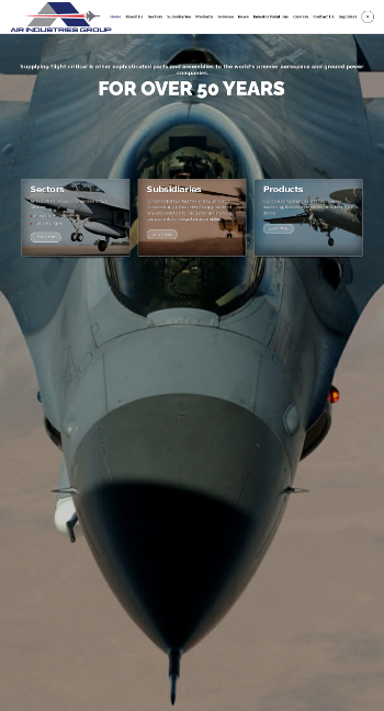 Air Industries Group Website Screenshot