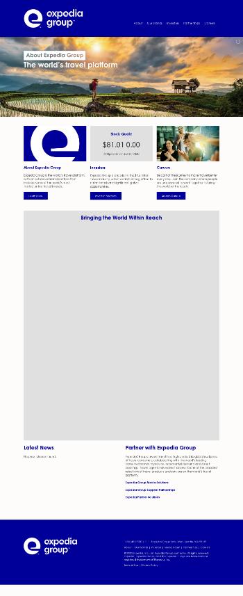 Expedia Group, Inc. Website Screenshot