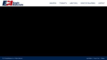Eagle Materials Inc. Website Screenshot