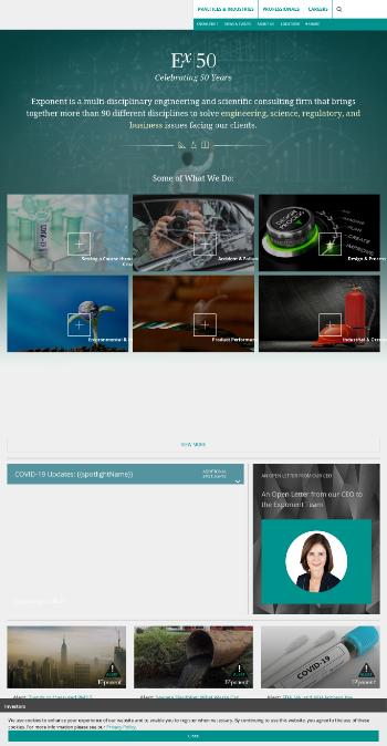 Exponent, Inc. Website Screenshot