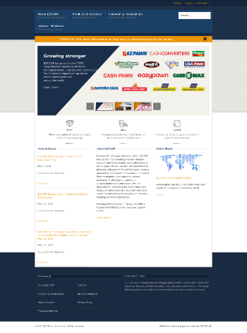 EZCORP, Inc. Website Screenshot