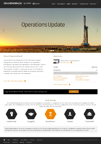 Diamondback Energy, Inc. Website Screenshot