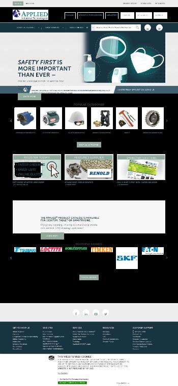 Applied Industrial Technologies, Inc. Website Screenshot