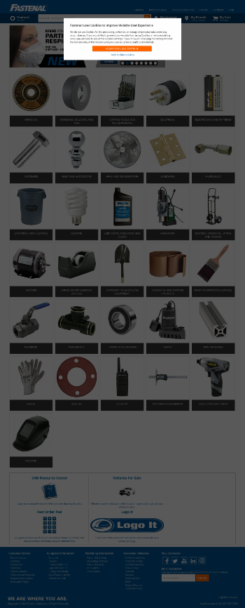 Fastenal Company Website Screenshot