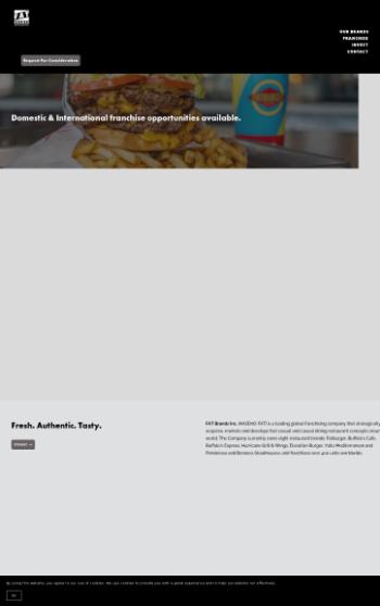 FAT Brands Inc. Website Screenshot