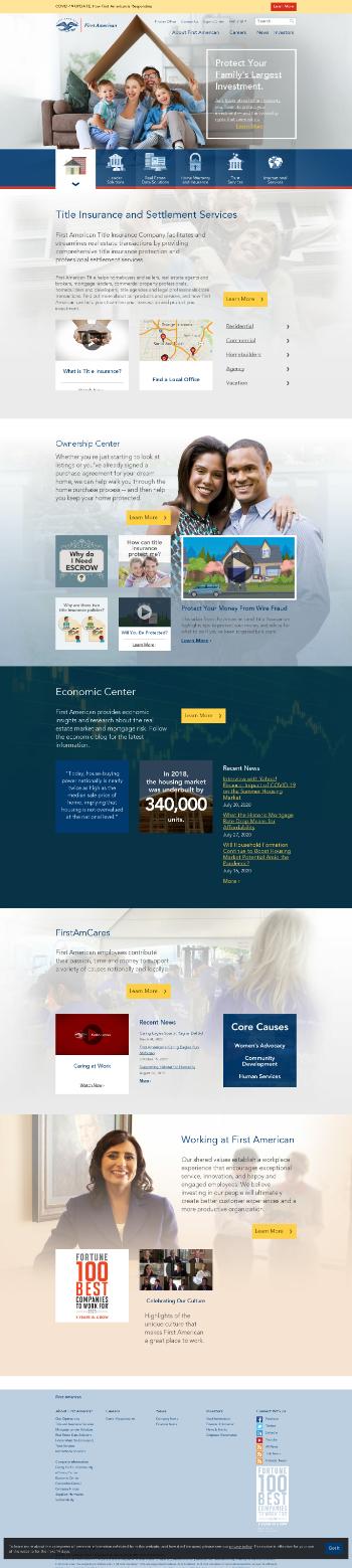 First American Financial Corporation Website Screenshot