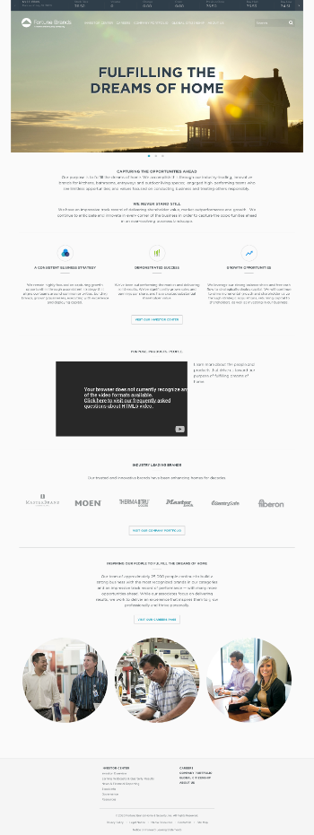 Fortune Brands Home & Security, Inc. Website Screenshot