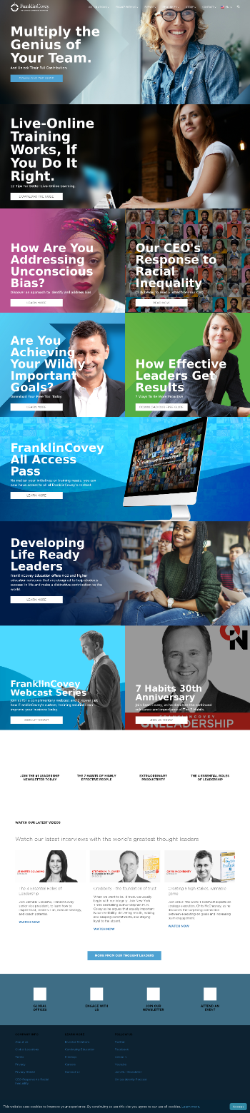 Franklin Covey Co. Website Screenshot