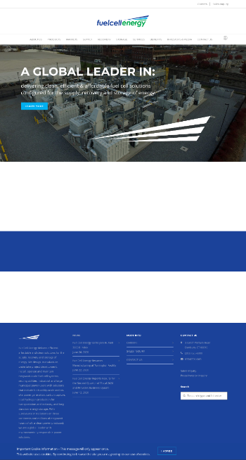 FuelCell Energy, Inc. Website Screenshot