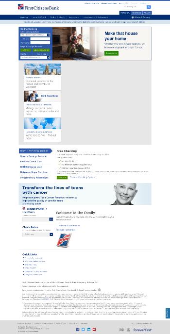 First Citizens BancShares, Inc. Website Screenshot