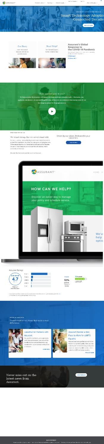 Assurant, Inc. Website Screenshot