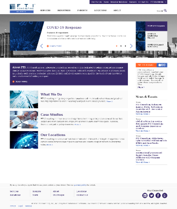 FTI Consulting, Inc. Website Screenshot