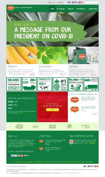 Fresh Del Monte Produce Inc. Website Screenshot