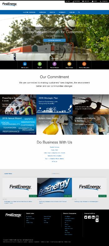 FirstEnergy Corp. Website Screenshot