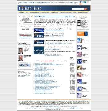 First Trust Specialty Finance and Financial Opportunities Fund Website Screenshot