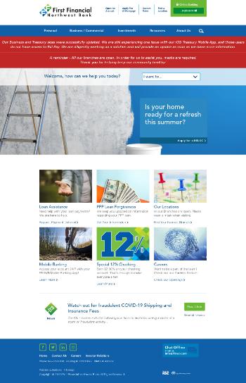 First Financial Northwest, Inc. Website Screenshot